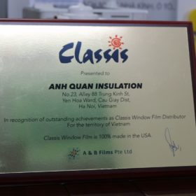 certificate nhà phân phối độc quyền classis